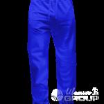 Синие штаны прямого кроя