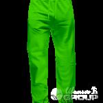 Зеленые штаны прямого кроя