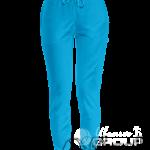 Голубые штаны женские