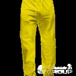 Желтые штаны прямого кроя