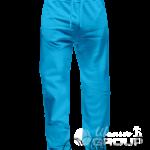 Голубые штаны прямого кроя