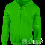 Зеленая толстовка с капюшоном