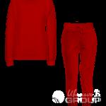 Красный костюм женский