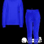 Синий костюм женский