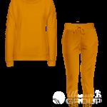 Оранжевый костюм женский
