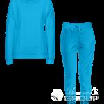 Голубой костюм женский