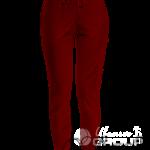 Бордовые штаны женские