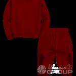 Бордовый костюм детский