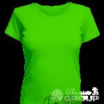 Зеленая женская футболка