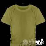 Оливковая детская футболка