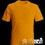 Оранжевая мужская футболка