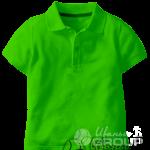 Зеленое поло детское
