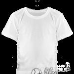 Белая детская футболка
