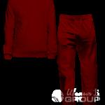 Бордовый костюм мужской