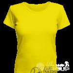 Желтая женская футболка для беременных