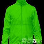Зеленая ветровка на кнопках