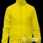 Желтая ветровка с капюшоном