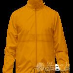 Оранжевая ветровка с капюшоном