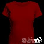 Бордовая женская футболка