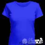 Синяя женская футболка для беременных