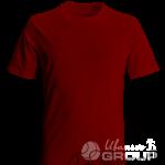 Бордовая футболка на заказ