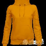 Оранжевое худи женское