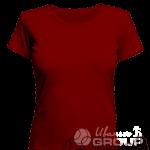 Бордовая женская футболка для беременных