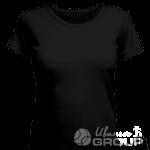 Черная женская футболка для беременных