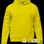 Желтое худи мужское