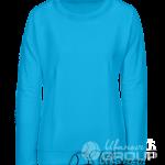 Голубой свитшот женский