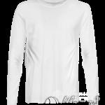 Белая футболка с длинным рукавом мужская
