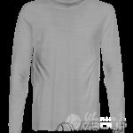 Серый-меланж футболка с длинным рукавом мужская