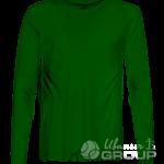 Темно-зеленая футболка с длинным рукавом мужская