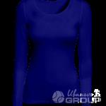Темно-синяя футболка с длинным рукавом женская