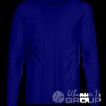 Темно-синяя футболка с длинным рукавом мужская