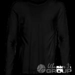 Черная футболка с длинным рукавом мужская