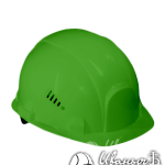 Зеленая строительная каска