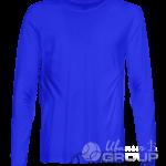 Синяя футболка с длинным рукавом мужская