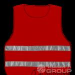 Сигнальная накидка красная
