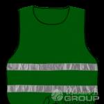 Сигнальная накидка зеленая