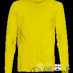 Желтая футболка с длинным рукавом мужская