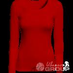 Красная футболка с длинным рукавом женская