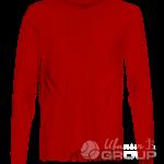 Красная футболка с длинным рукавом мужская