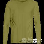 Оливковая футболка с длинным рукавом мужская