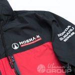 Нанесение логотипа «МОБИЛ К» на куртки