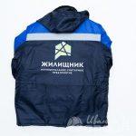 Печать логотипа «ЖИЛИЩНИК» на куртки
