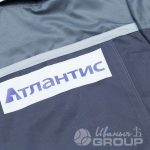 Перенос логотипа «АТЛАНТИС» на куртки