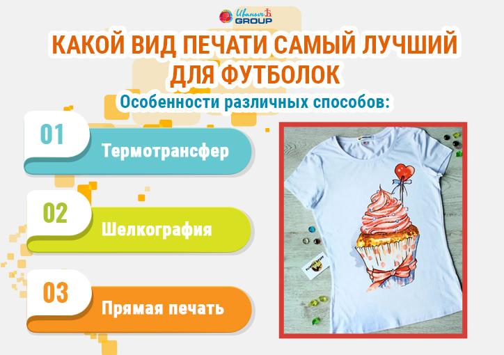 Фото видов печати для футболок