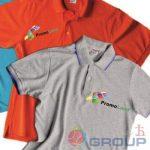 Промо футболки поло с логотипом в москве