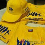 логотипы на промо футболках и промо кепках